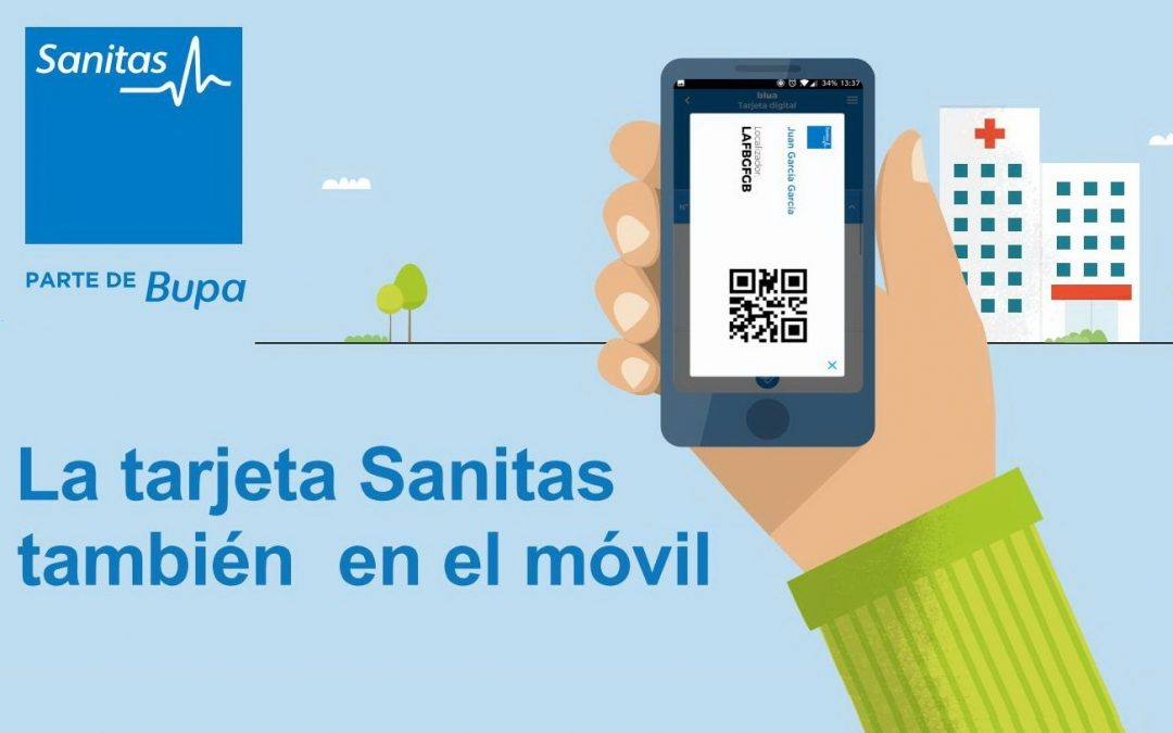 Tarjeta Digital de Sanitas para Smartphone y Tableta